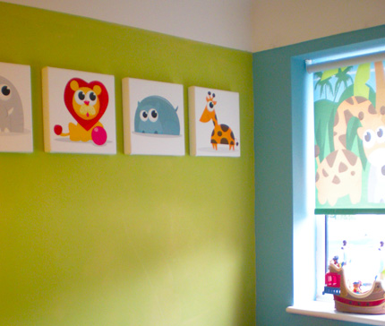 these vector illustrations from istockphoto transformed a little boys room on itvs 60 minute makeover programme we made a set of 5 small canvases and a - Canvas Design Ideas