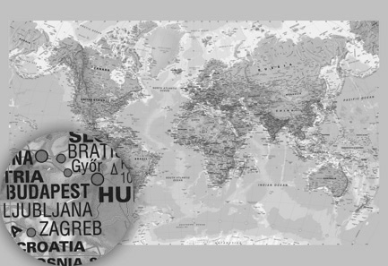 Political world map environmental world map pacific world map black and white world map gumiabroncs Choice Image