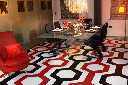 Printed vinyl flooring home flooring ideas for Unusual floor coverings
