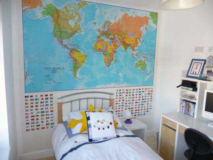 Political World Map Environmental World Map Pacific World Map - Boys room with maps
