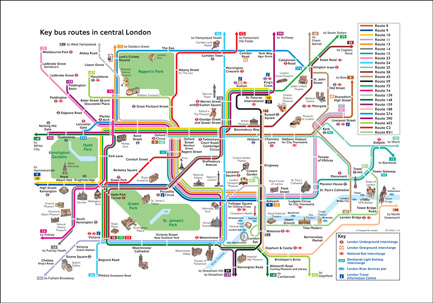 Tfl Bus Maps Bespoke Digital Photo Canvas, Wallpaper, Wall Murals, Roller